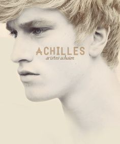 Achilles (Ἀχιλλεύς) the golden warrior-son of the nymph Thetis; aristos achaion
