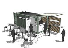 Pop Up Restaurant   Boxman Cafe