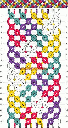 Normal Friendship Bracelet Pattern #3162 - BraceletBook.com