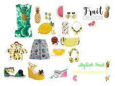 """Stylish Fruit"" by gabiure on Polyvore featuring moda, Dolce&Gabbana, Kate Spade, Benzara, Betsey Johnson, Topshop, Agent 18 y Sophia Webster"