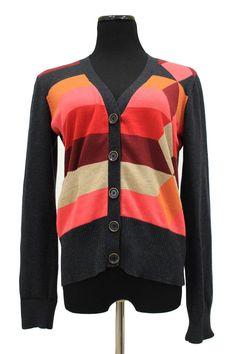 CAbi 171 Colorblock Cardigan Sweater Size M