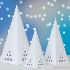 Square Cones pyramides for candles Free cut file - get silvered פסח- רעיון לקישוט שולחן .הסדר,פירמידות עם נרות לד