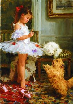 Yuri Krotov - the little ballerina, the dog and the cat.