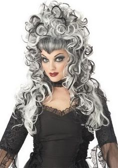 Transform your look with one of these fun wigs, including cosplay wigs, cheap wigs, and wigs for sale, now available at Yandy! Shop wigs for women now! Black And White Wig, Grey White Hair, Black Wig, Long Black, Pop Culture Halloween Costume, Halloween Costumes, Halloween Makeup, Halloween Fashion, Diy Costumes