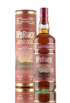 One of two new wood finishes from BenRiach, released Summer 2016 (the other being a 21 year old Port Wood finish). This BenRiach from Speyside has been aged for 17 years then finished in casks that previously held Pedro Ximénez sherry. Bottled at 46%, non chill filtered and at natural colour.