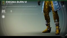 A list of all guardian armor in Destiny the game. Destiny Warlock, Burns