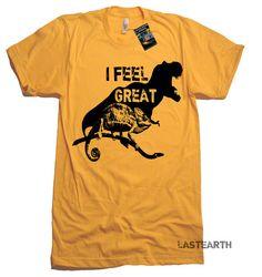 00faf6a36c9 I Feel Great T Shirt Funny Dinosaur TShirt Happy T Shirt Motivational  Fitness Mens Womens Kids TShir
