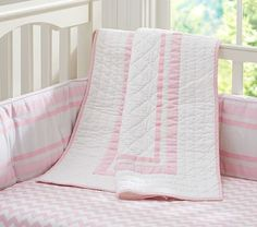 Harper Chevron Nursery Bedding #PotteryBarnKids Pottery Barn Kids is going to be the deathof me. In Lavender or Aqua...or mix the two? @Robin Patterson