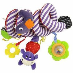 2016 New Christmas Gift Car Plush Bed Crib Hanging Bell Newborn Kids Rattles Mobile Toys Kawaii Kids Toys For Children Dolls