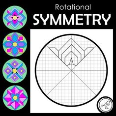 A basic rotational symmetry activity that is designed for junior students. 4 DIFFERENT DESIGNS Refer Symmetry Activities, Art Activities, Symmetry Art, Symmetry Design, Rotational Symmetry, Math Projects, Math Crafts, Math Patterns, Jr Art
