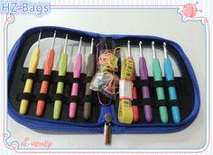 Amazon tpr caucho thermopastic crochet conjunto de gancho, mango ganchillo platic