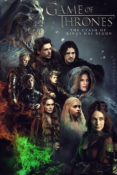 Game Of Thrones Movie Styled Poster #GameOfThrones #ASOIAF #AClashOfKings I think this is an old image as A Clash Of Kings is the name of the second book in the A Song Of Ice and Fire Book series! Great picture though!