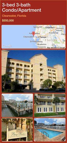 3-bed 3-bath Condo/Apartment in Clearwater, Florida ►$550,000 #PropertyForSaleFlorida http://florida-magic.com/properties/31011-condo-apartment-for-sale-in-clearwater-florida-with-3-bedroom-3-bathroom