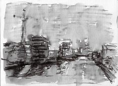 Anthony Lombardi  Berlin 03 ink on paper 2017 20 x 14 cm.