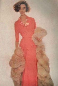 Evelyn Tripp photographed by Lilian Bassman for Harper's Bazaar, November 1956