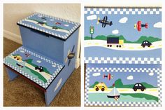 Baby Toddler Boy Room Decor Transportation car airplane Theme DIY