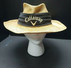 Calloway by Biltmore Big Bertha Straw Hat With Black Band. Mens Straw Hats, Straw Fedora, Rlx Ralph Lauren, Big Bertha, Unique Gifts For Men, Callaway Golf, Boynton Beach, Wonderful Things, Fun Things