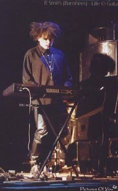 Robert Smith playing with the Banshees.