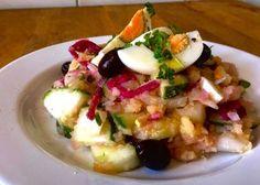 Ensalada de verano de patata y pepino