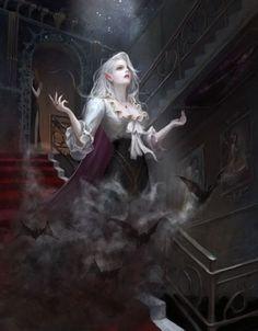 Dark Fantasy Art, Fantasy Girl, Fantasy Artwork, Fantasy Queen, Fantasy Inspiration, Character Inspiration, Fantasy Character Design, Character Art, Vampire Art