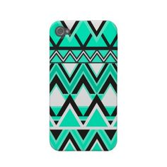 Turquoise Tribal Pattern Iphone 4 Case-mate Case by Organic Saturation