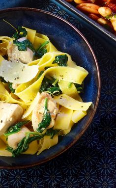 Try this creamy chicken and spinach pasta recipe with a citrus kick for a quick midweek meal.