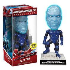 Spiderman 2 Electro Wacky Wobbler Bobble Head Figure
