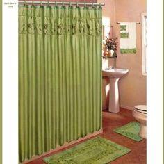 Olive Green Bath Mat Set