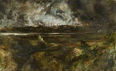 Théodore Rousseau (1812–67), Mont Blanc Seen from La Faucille, Storm Effect, begun 1834. Oil on canvas, 143 × 240 cm. Ny Carlsberg Glyptotek, Copenhagen, MIN1783.