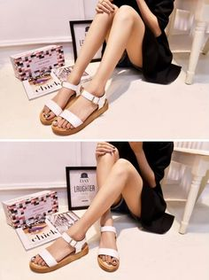 Black/White Simple Buckle Up Sandals RM 55  SKU : S592W (White); S592H (Black)  Price : RM 55  Size : 35, 36, 37, 38, 39  Heel Height : 3 cm Platform Height : 2 cm  Weight : 0.54 kg  Visit us at : http://extremesvelte.blogspot.my/  Email us for quickest response : evelynsvelte@hotmail.com  #fashion #fashionidea #fashionista #koreanfashion #Malaysia #streetfashion #Frenchfashion #lookbook #ootd #potd