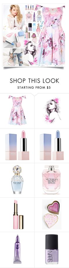 """""""Spring Floral"""" by angelstylee ❤ liked on Polyvore featuring Sephora Collection, Silvana, Marc Jacobs, Victoria's Secret, Clarins, Boohoo, Urban Decay, NARS Cosmetics, Spring and Pink"""