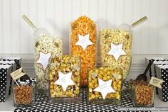 Karkkibuffetin tilalle popcorn- ja suolaisen naposteltavan buffet!