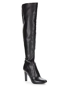 Black Chorus Faux Leather Over-Knee Boots @ OffSaks5th $120