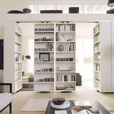 *Sliding/Rotating Bookcase Room Dividers