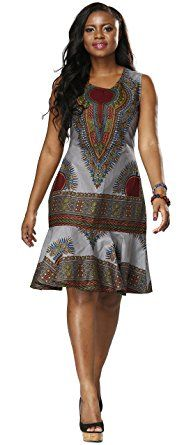 Shenbolen Woman African Print Dress Dashiki Traditional Dress Party Dresses (XX-Large, A) African Fashion Designers, African Inspired Fashion, Latest African Fashion Dresses, African Dresses For Women, African Print Dresses, African Print Fashion, Africa Fashion, African Attire, African Wear