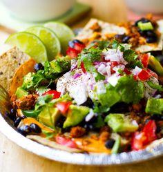 Vegan Nachos for all! Cinco de Mayo Recipe. vegan-and-raw-vegan-food