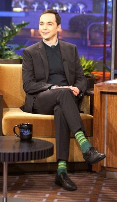 Jim Parsons -- those socks are great!