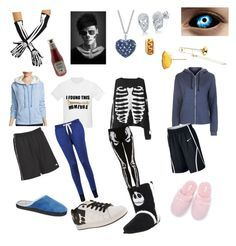 Undertale: sans by notasupervillian on Polyvore featuring polyvore fashion style Made For Life Topshop Zoe Karssen Diadora DC Shoes Isotoner Soma Effy Jewelry Venessa Arizaga BERRICLE NIKE