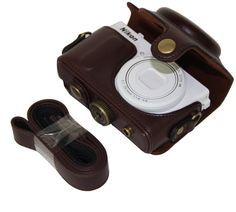 MegaGear 'Ever Ready' Protective Dark Brown Leather Camera Case, Bag for Nikon COOLPIX P330, Nikon COOLPIX P340 >>> Check out the image by visiting the link. (This is an Amazon Affiliate link and I receive a commission for the sales)