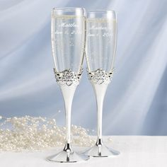 Happily Ever After Flute Set from the Disney Fairytale Weddings Collection