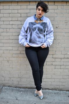Nadia Aboulhosn I am in love with this outfit. Thick Girl Fashion, Curvy Fashion, Love Fashion, Plus Size Fashion, Autumn Fashion, Fat Girl Short Hair, Short Girls, Short Hair Plus Size, Plus Size Girls