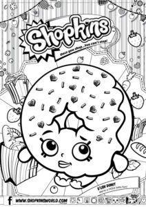 Shopkins Coloring Pages Season 1 D'Lish Donut