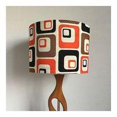 Retro-LampShade-Ceiling-Pendant-Original-Vintage-60s-70s-Fabric