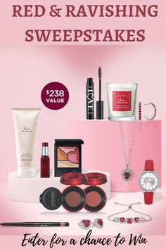 No purchase necessary. Open to legal residents of the 50 U.S. & DC, including authorized independent Avon sales representatives, 18 and older. Sweepstakes ends 11:59 p.m. ET 02/28/21. Void where prohibited #sweepstakes #entertowin #beautylover Best Selling Makeup, Free Sweepstakes, Avon Sales, Bath And Body, Skin Care, Red, Beauty, Style, Swag