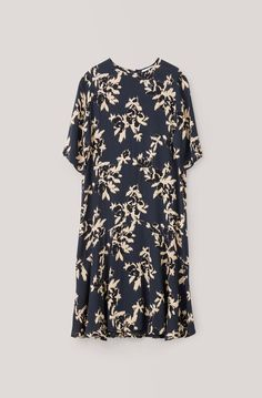 St. Pierre Crepe Dress, Total Eclipse