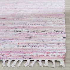 Safavieh Hand-Woven Rag Rug Light Pink/ Multi Cotton Rug (5' x 7') - Walmart.com