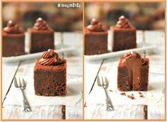 Tarta de chocolate rellena de queso al chocolate {paso a paso}