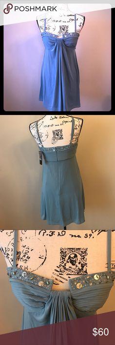 Selling this NWT BCBGMaxazria blue dress on Poshmark! My username is: melissah99. #shopmycloset #poshmark #fashion #shopping #style #forsale #BCBGMaxAzria #Dresses & Skirts