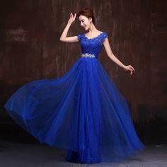vestidos largos azul rey con encaje - Buscar con Google