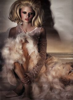 Lara Stone in Chanel Haute Couture | Ph. by Craig McDeanW April 2011 | My Scan